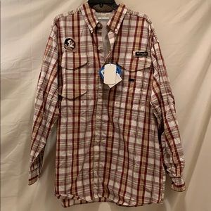 Columbia Florida State Button Down Tee Large